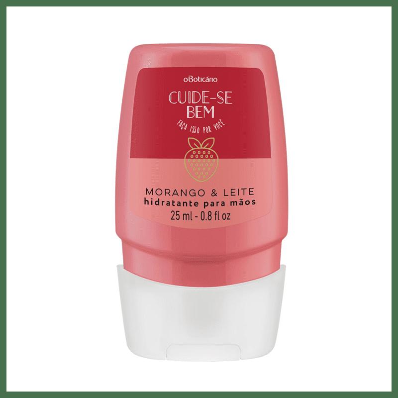 o Boticário Cuide-se Bem Morango e Leite - Creme Hidratante para Mãos 25ml