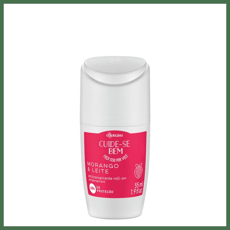 Desodorante Roll-On Cuide-se Bem Morango e Leite, 55ml