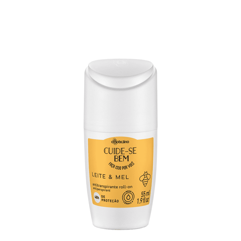 Desodorante Antitranspirante Roll-on Cuide-se Bem Leite e Mel 55ml