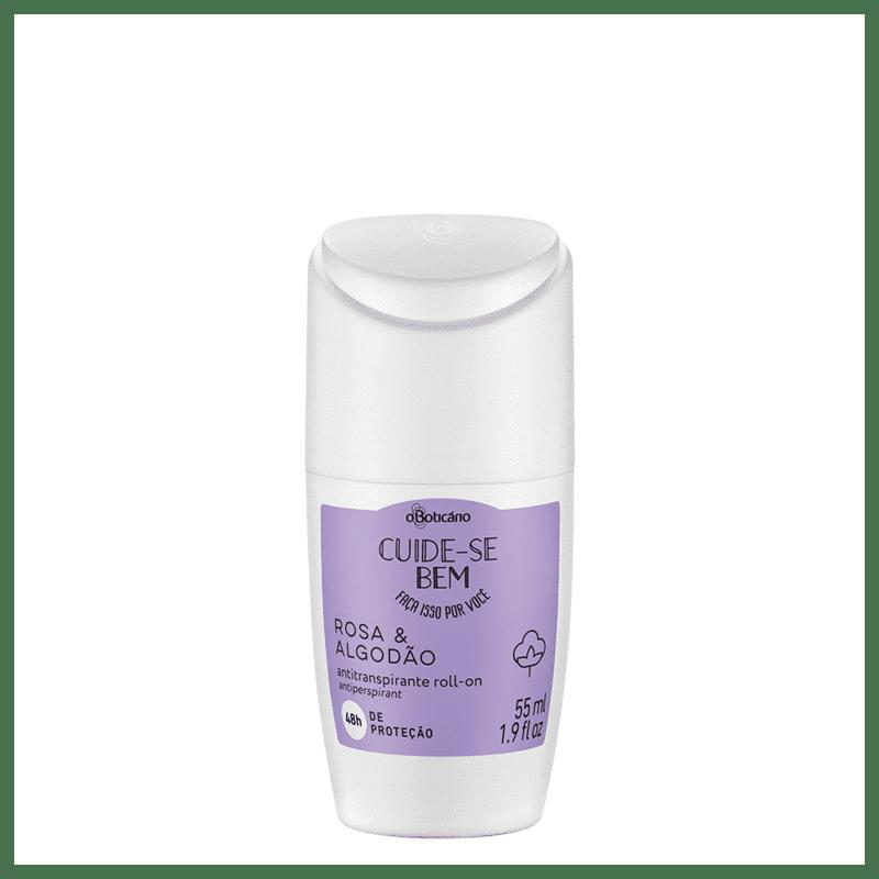 Desodorante Roll-On Cuide-se Bem Rosa e Algodão, 55ml