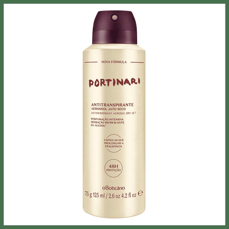 Desodorante Antitranspirante Aerosol Portinari, 75g/125ml