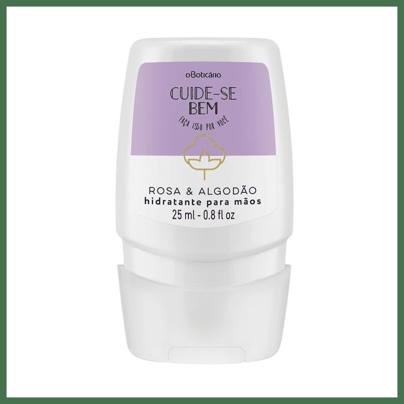 Creme Hidratante Desodorante para Mãos Cuide-se Bem Rosa e Algodão, 25ml