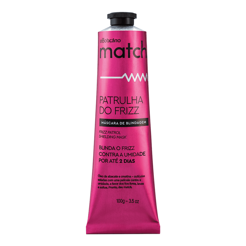 Máscara Capilar Match Patrulha do Frizz, 100g