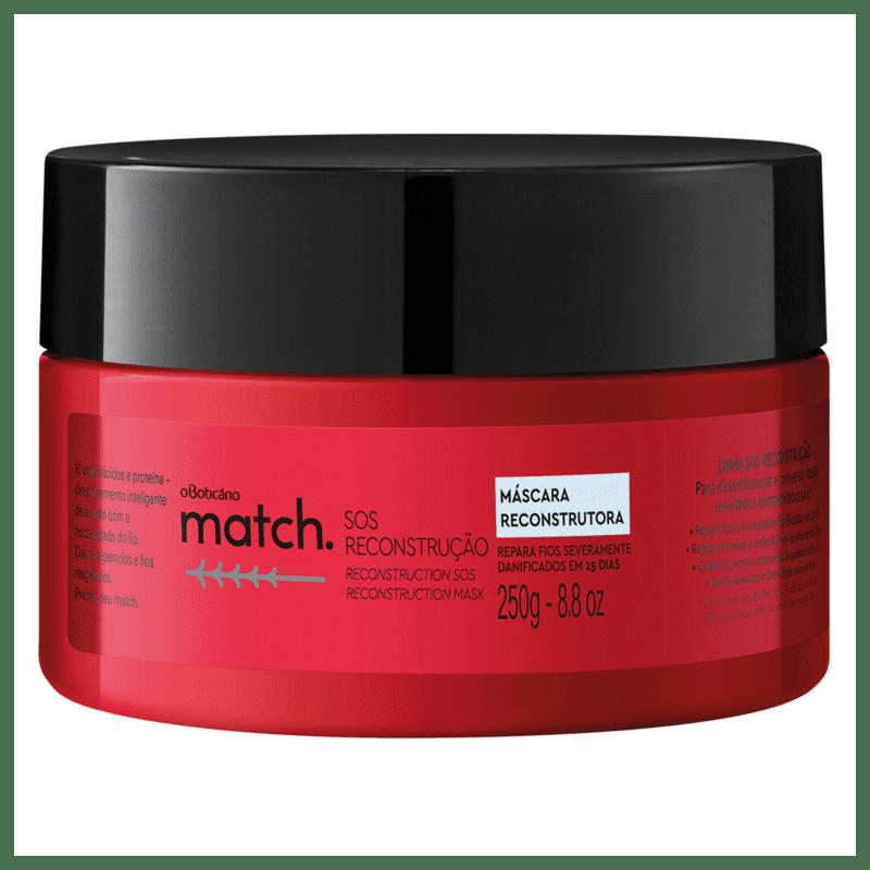 o Boticário Match SOS Reconstrução - Máscara Capilar 250g
