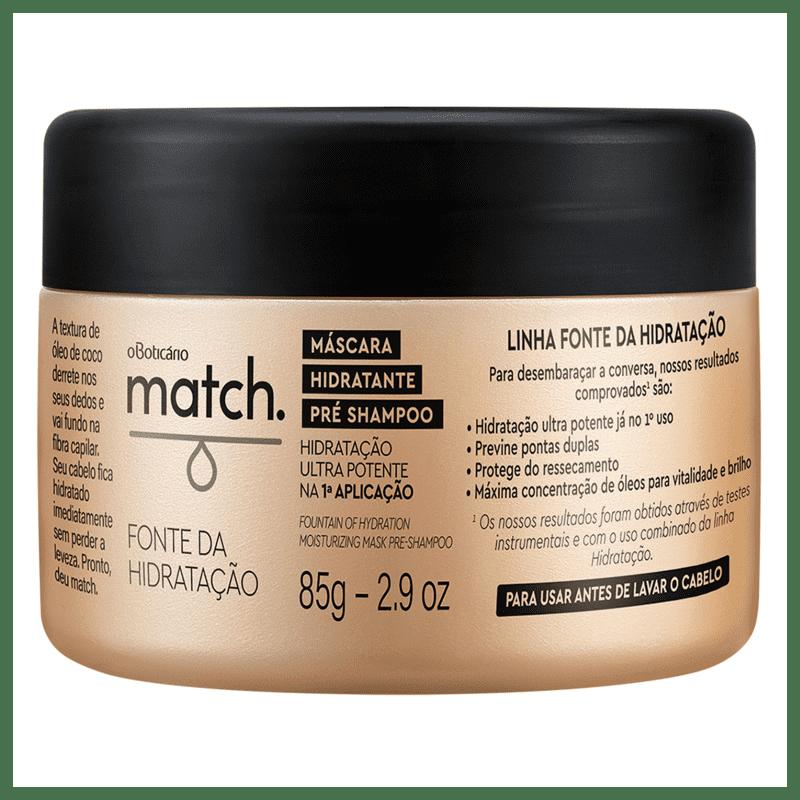 Máscara Capilar Match Fonte da Hidratação, 85g