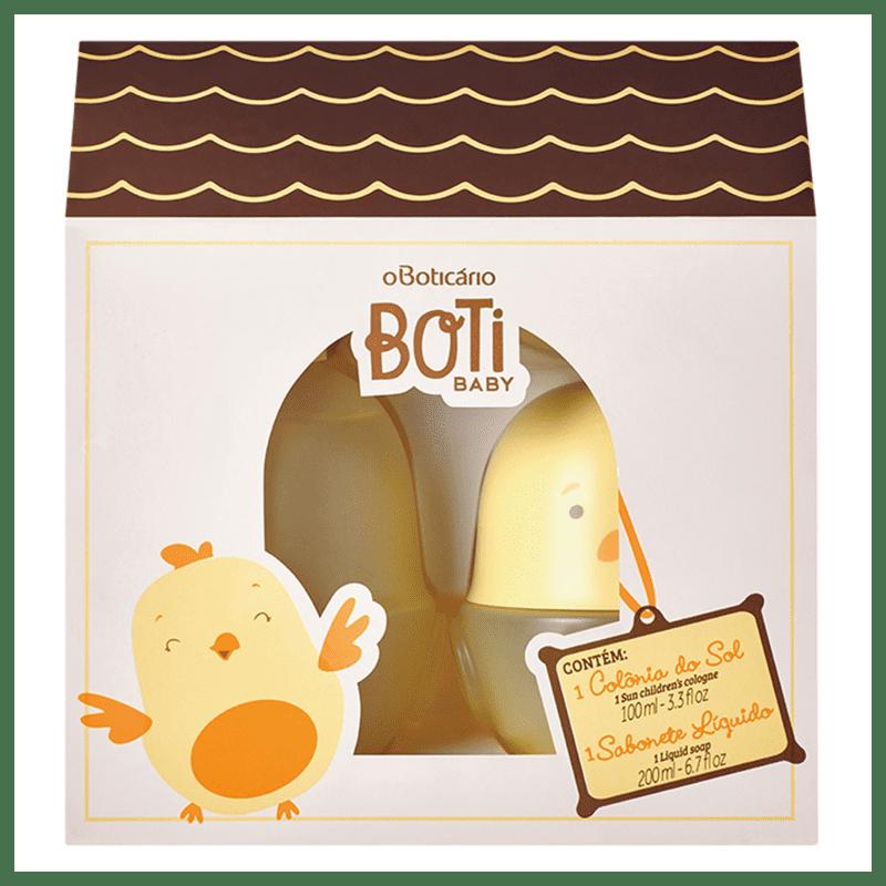 Kit Presente Boti Baby Sol: 01 Colônia 100ml + 01 Sabonete Líquido Corpo e Cabelo 200ml
