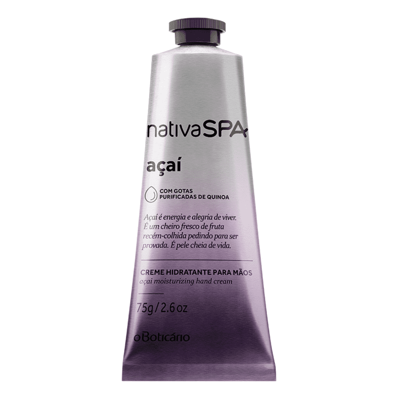 Creme Hidratante para Mãos Desodorante Nativa SPA Açaí, 75g