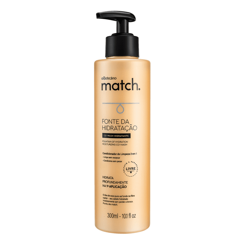 Condicionador Co Wash Match Fonte da Hidratação, 300ml