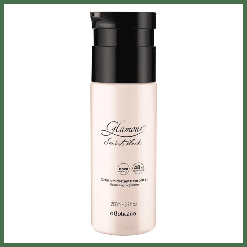 Creme Desodorante Hidratante Corporal Glamour Secrets Black 200ml
