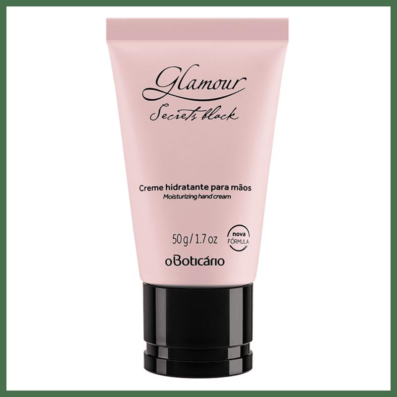 Creme Desodorante Hidratante para Mãos Glamour Secrets Black, 50g