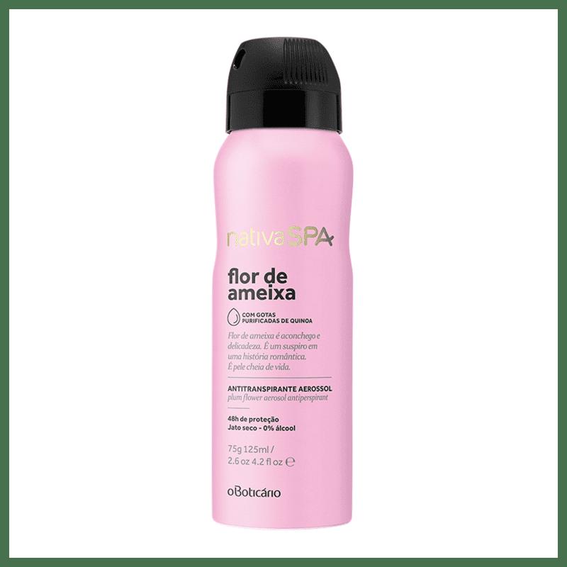 Desodorante Aerosol Antitranspirante Nativa SPA Flor de Ameixa, 75g
