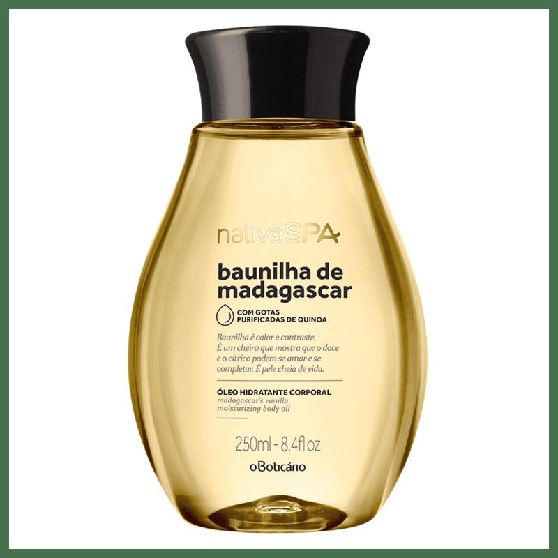 Óleo Corporal Desodorante Nativa SPA Baunilha de Madagascar, 250ml