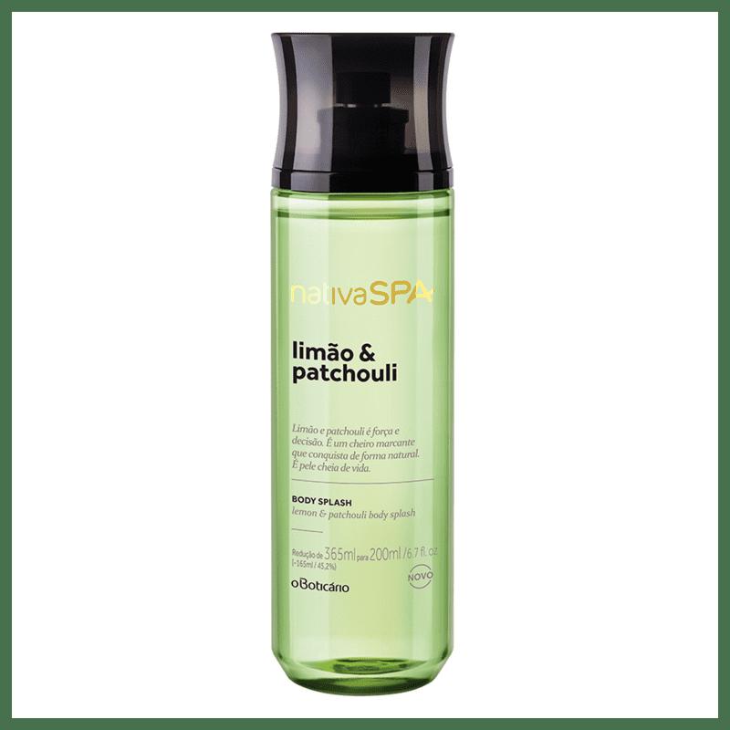 Desodorante Colônia Body Splash Nativa SPA Limão e Patchouli, 200ml