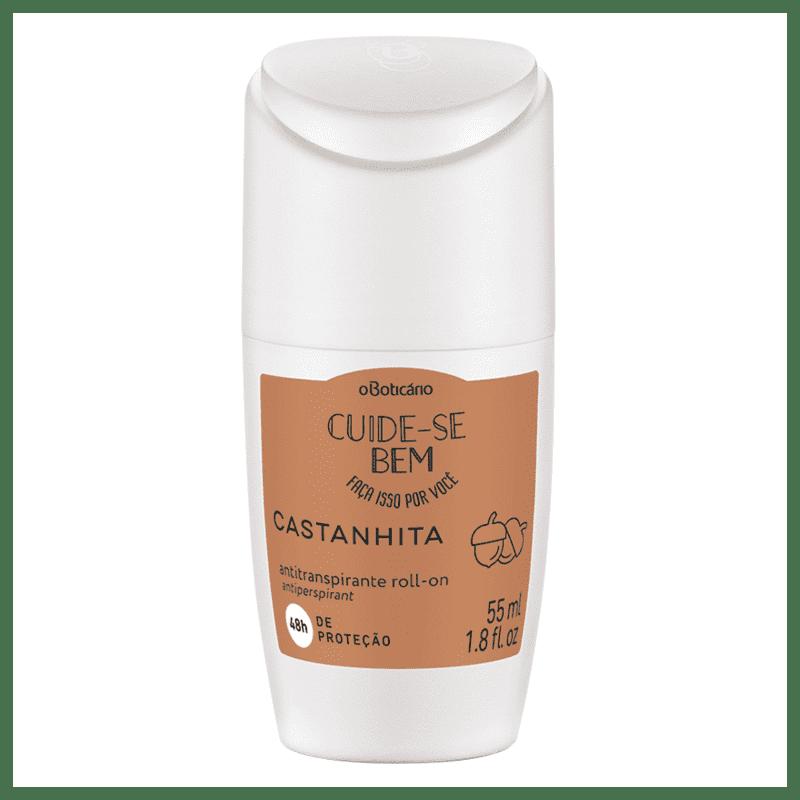 Desodorante Antitranspirante Roll On Cuide-se Bem Castanhita, 55ml