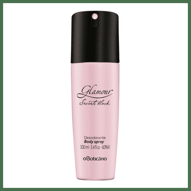 Desodorante Body Spray Glamour Secrets Black, 100ml