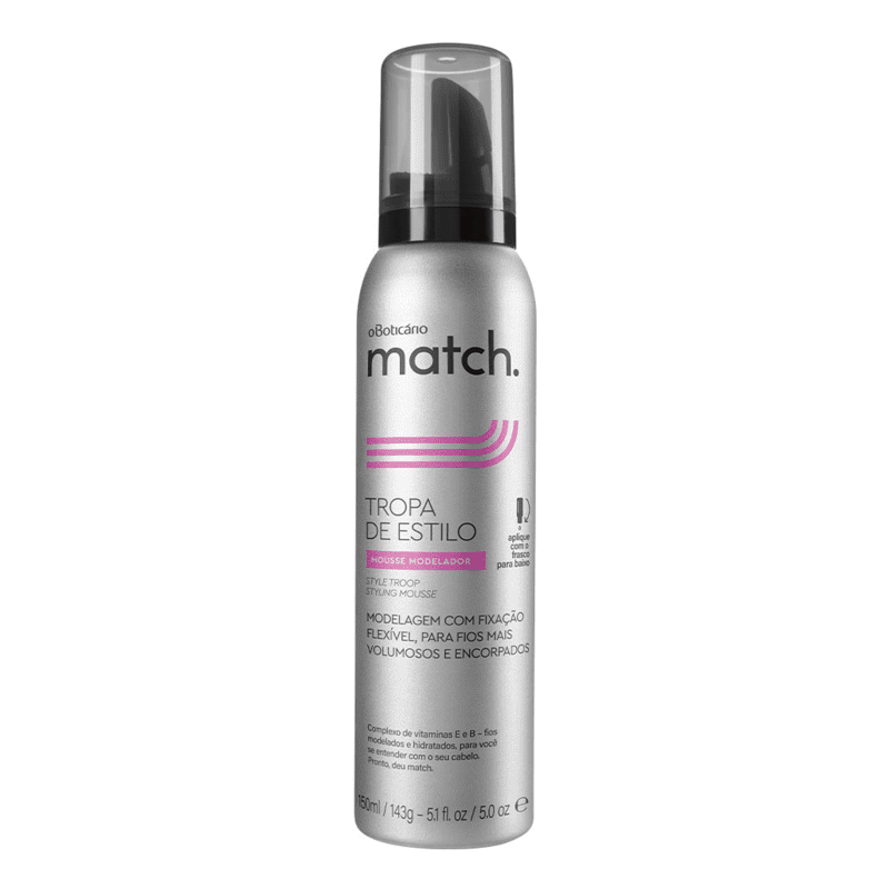 Mousse Modelador Capilar Match, 150ml