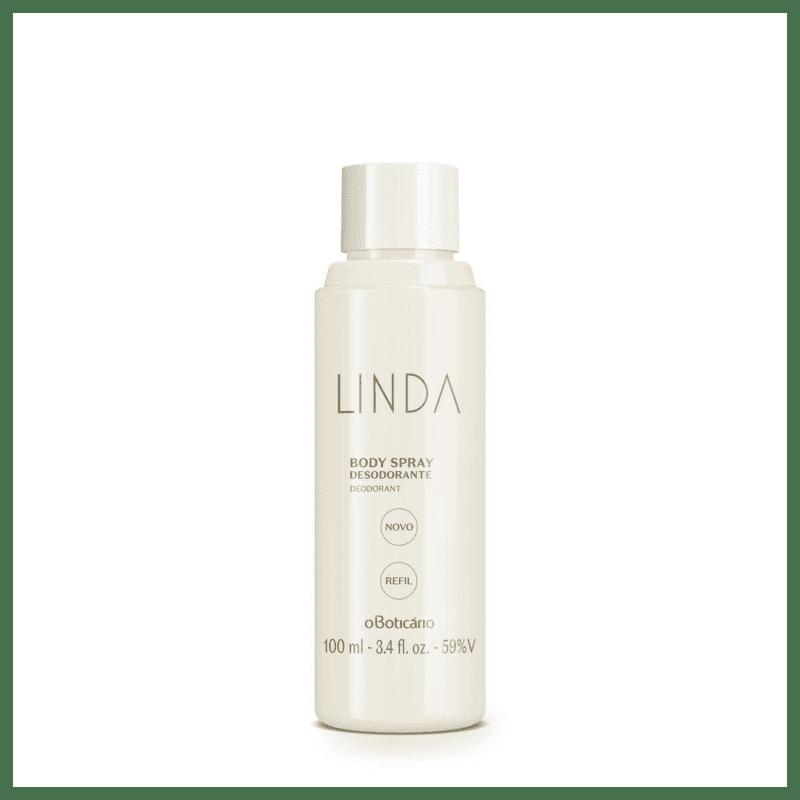 Refil Desodorante Body Spray Linda 100ml