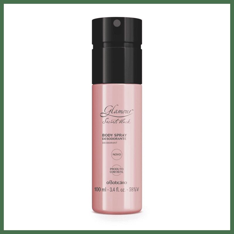 Desodorante Body Spray Glamour Secrets Black 100ml versão 2