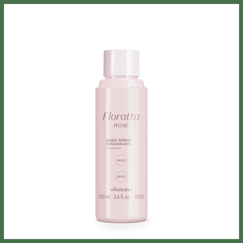 Refil Desodorante Body Spray Floratta Rose, 100 ml