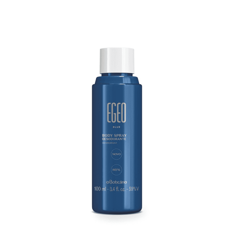 Refil Body Spray Desodorante Egeo Blue, 100 ml