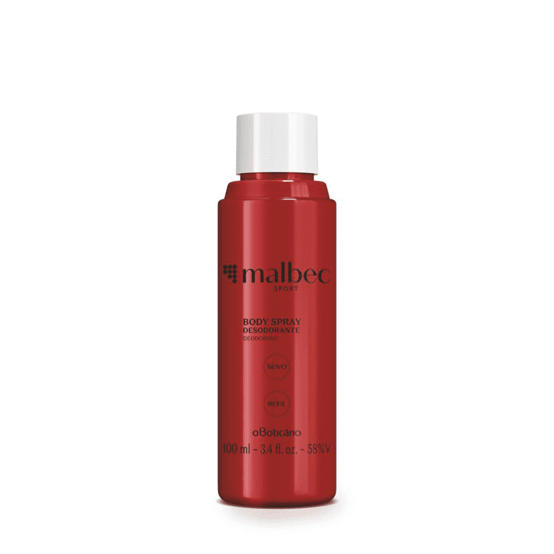 Refil Desodorante Body Spray Malbec Sport 100ml