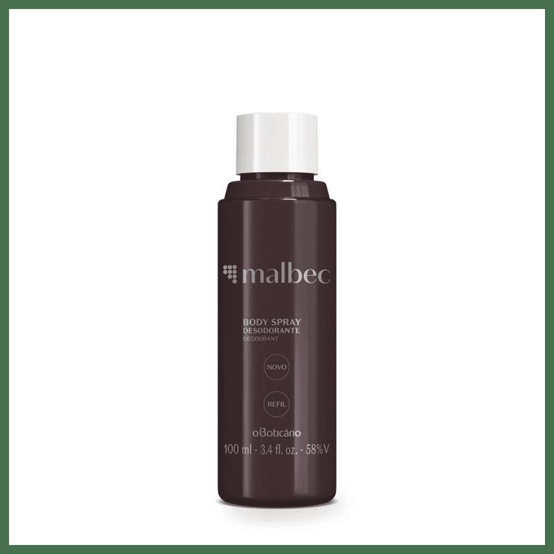 Refil Desodorante Body Spray Malbec, 100 ml