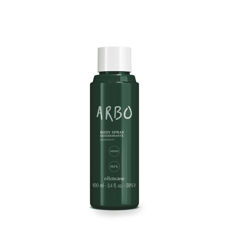 Refil Desodorante Body Spray Arbo, 100Ml Pack Versao 3