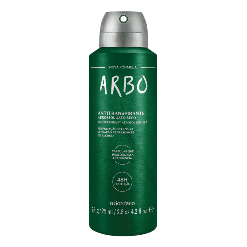 Desodorante Antitranspirante Aerossol Arbo 75g/125ml