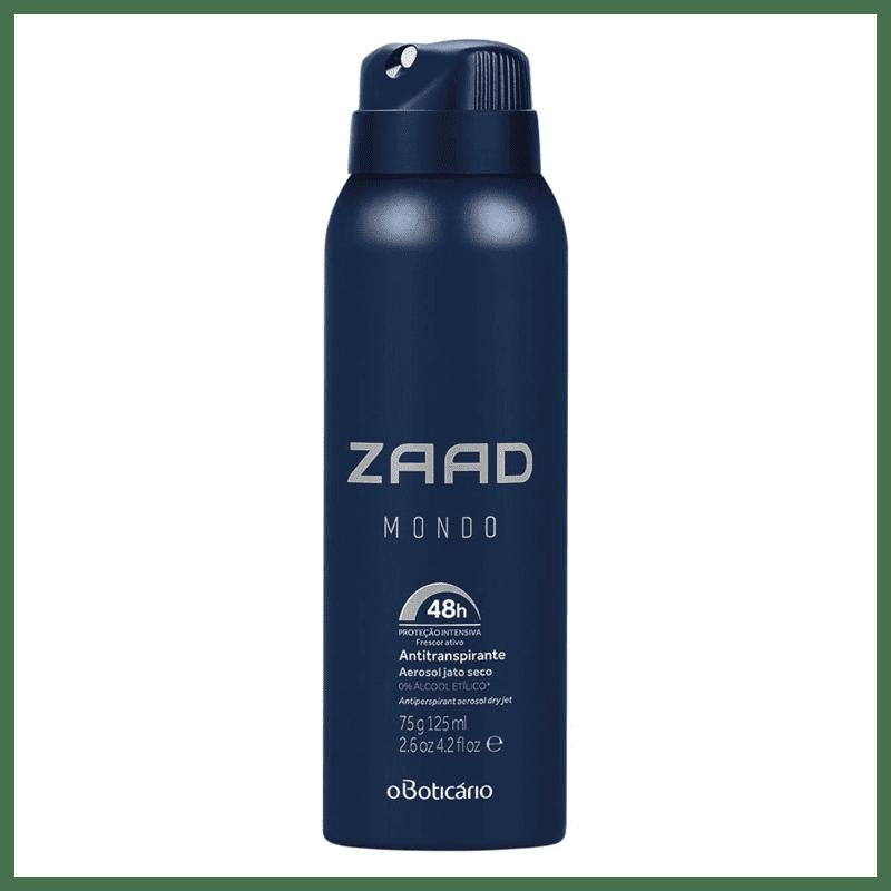 Zaad Mondo Desodorante Antitranspirante Aerosol, 75g/125ml