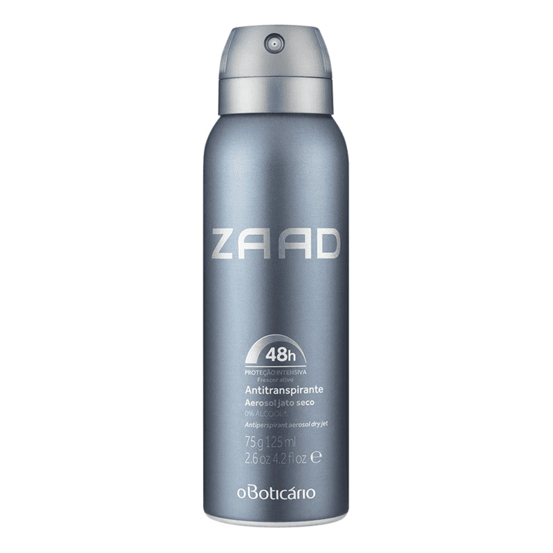 Desodorante Antitranspirante Aerosol Zaad, 75g/125ml