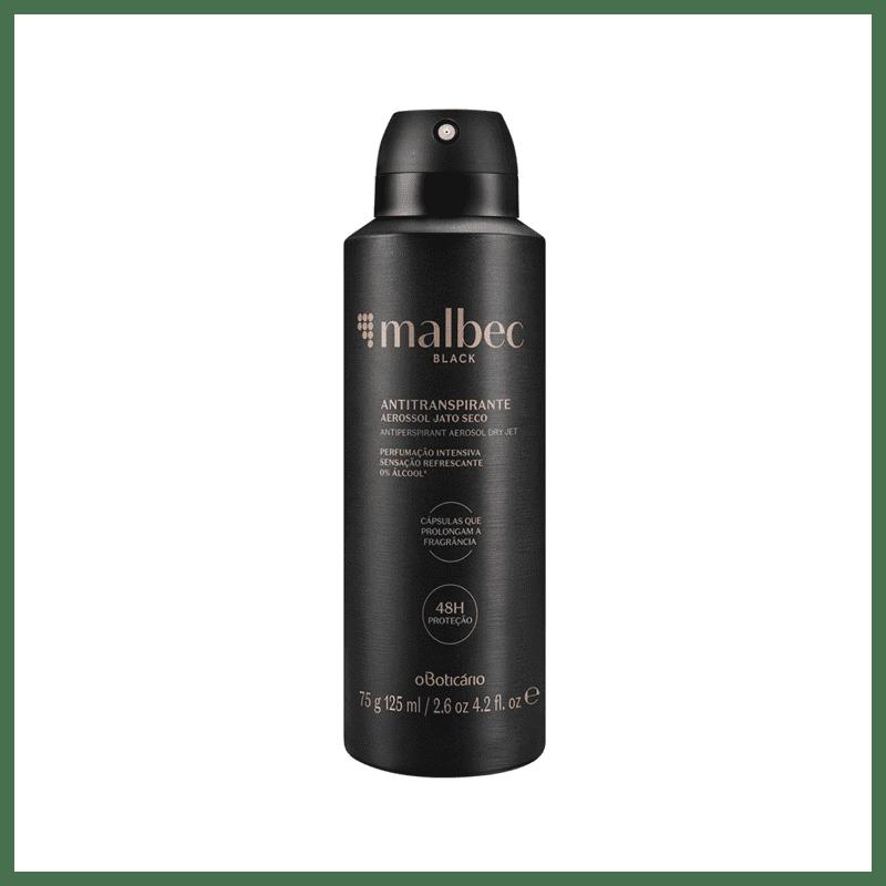Desodorante Antitranspirante Aerossol Malbec Black 75g