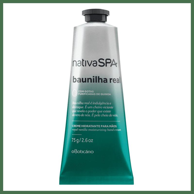 Creme Desodorante Hidratante para Mãos Nativa SPA Baunilha Real, 75g