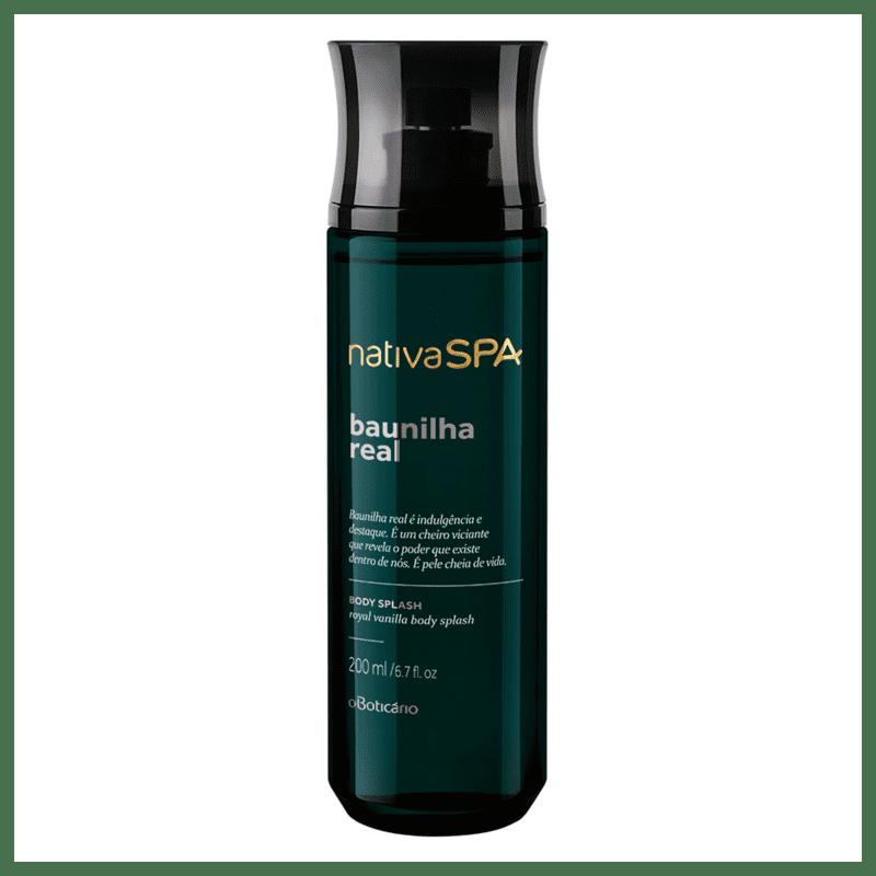 Desodorante Colônia Body Splash Nativa SPA Baunilha Real, 200ml