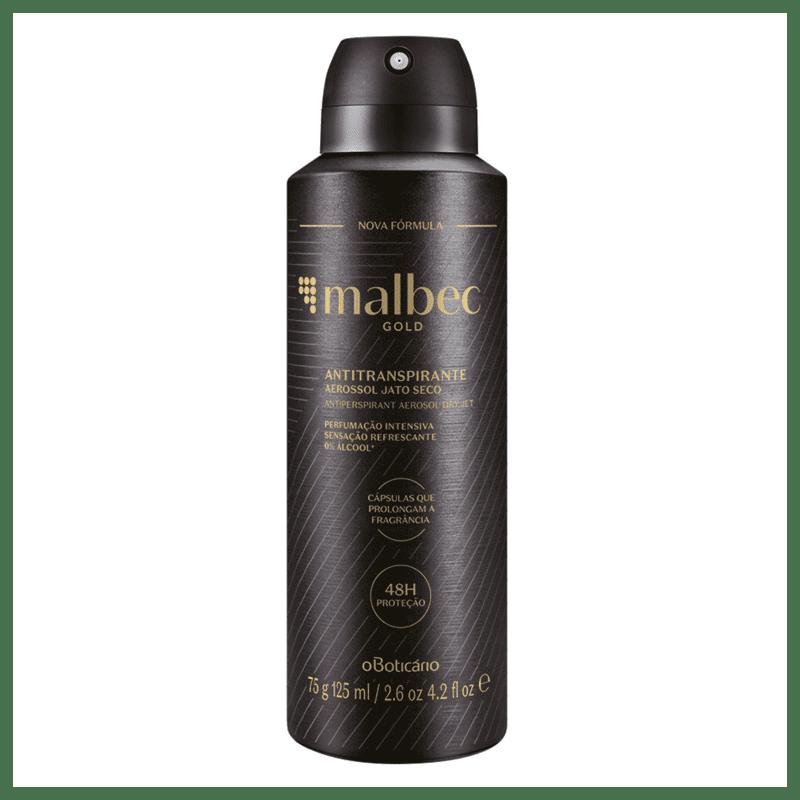 Desodorante Antitranspirante Aerosol Malbec Gold, 75g/125ml