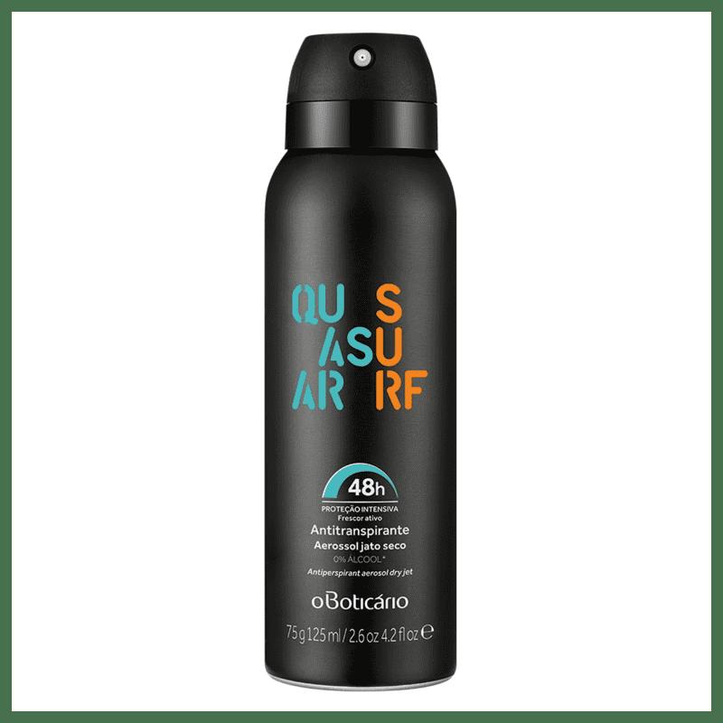 Desodorante Antitranspirante Aerossol Quasar Surf 75g/125ml
