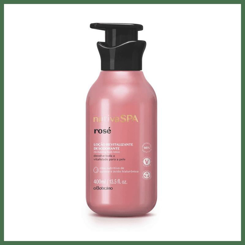 Loção Revitalizante Desodorante Corporal Nativa Spa Rosé, 400 ml