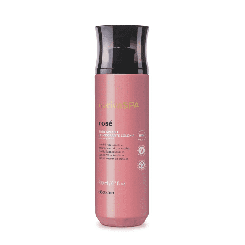 Desodorante Colônia Body Splash Nativa Spa Rosé, 200 ml