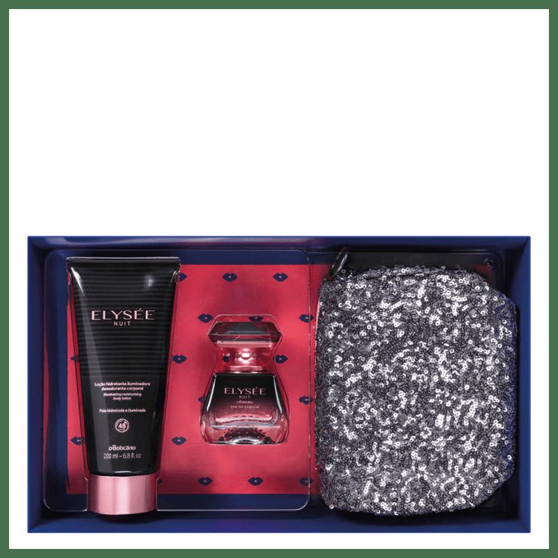 Kit Presente Elysée Nuit: Eau de Parfum 50ml + Loção Hidratante Iluminadora Desodorante 200ml + Nécessaire