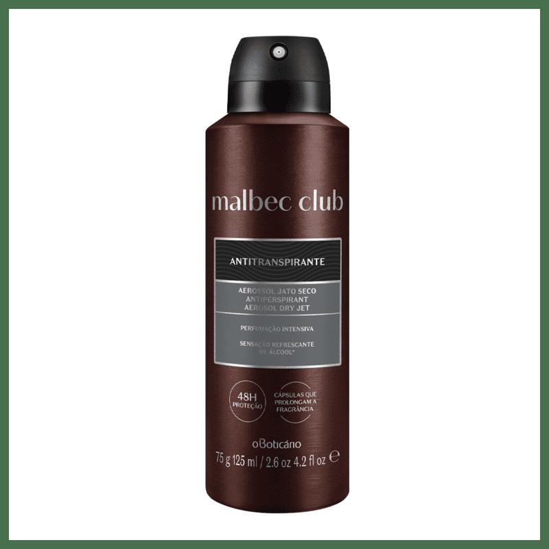 Desodorante Antitranspirante Aerossol Malbec Club Intenso 75g