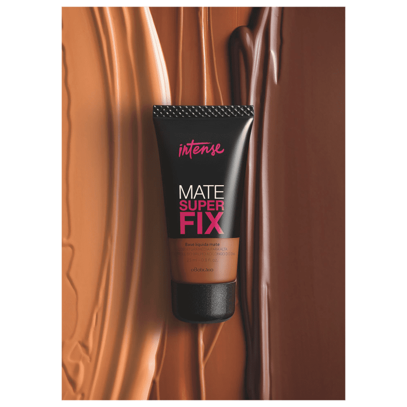 Base Líquida Mate Intense Superfix, 25ml Escuro 4