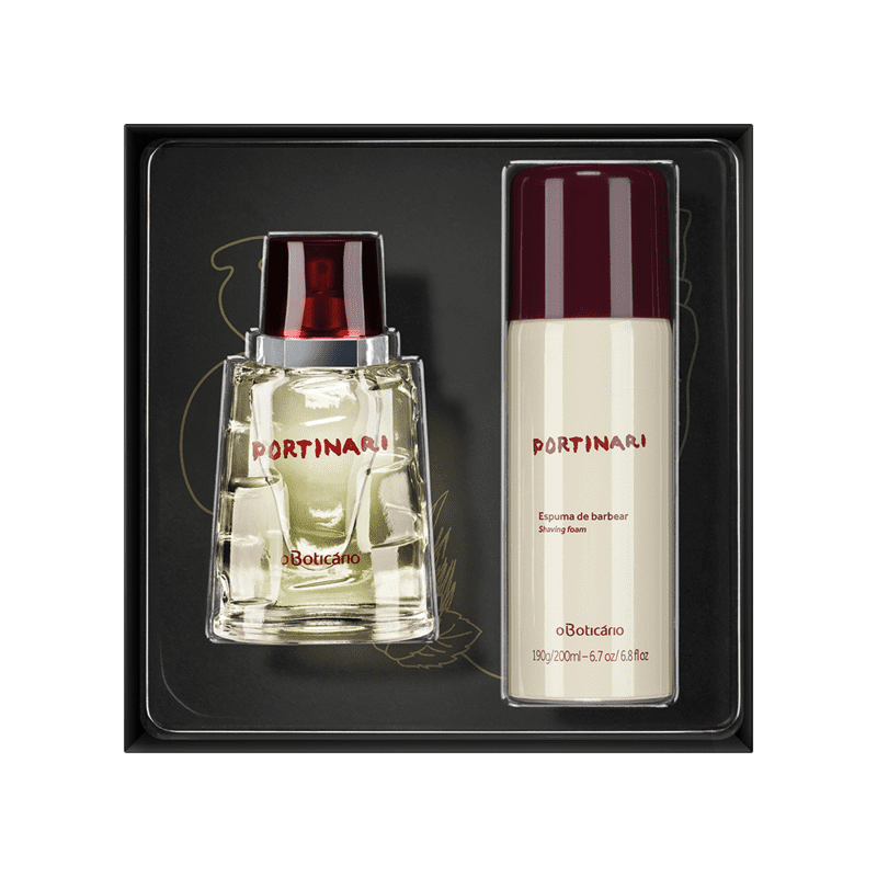 Kit Presente Boticollection Portinari: Desodorante Colônia 100ml + Espuma de Barbear 200ml
