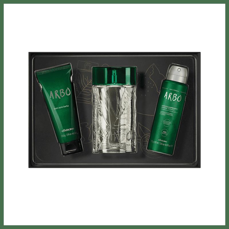 Kit Presente Arbo: Desodorante Colônia 100ml + Antitranspirante 75g + Pós-barba Balm 110g