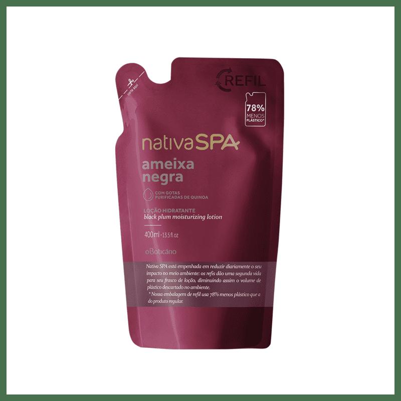 Refil Loção Desodorante Hidratante Corporal Nativa SPA Ameixa Negra 400ml