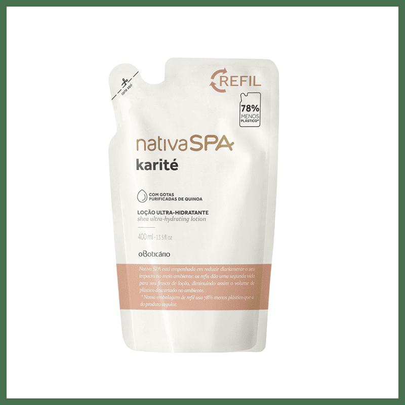 Refil Loção Desodorante Hidratante Corporal Nativa SPA Karité, 400 ml
