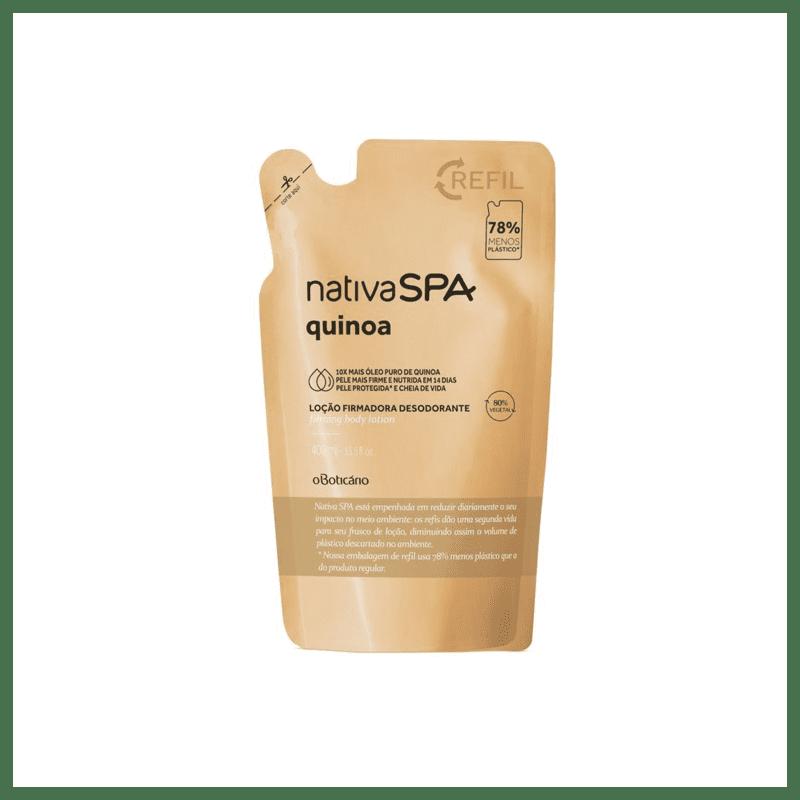 Refil Locão Firmadora Desodorante Hidratante Corporal Nativa Spa Quinoa 400ml