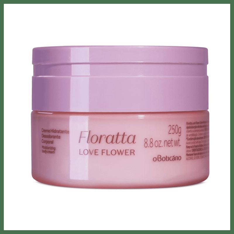 Creme Desodorante Hidratante Corporal Floratta Love Flower, 250 g