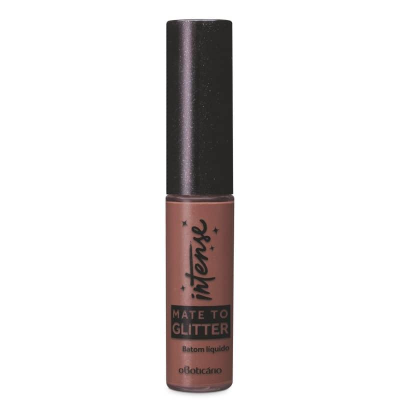 Batom Líquido Mate To Glitter Nude Intense, 5,6 ml