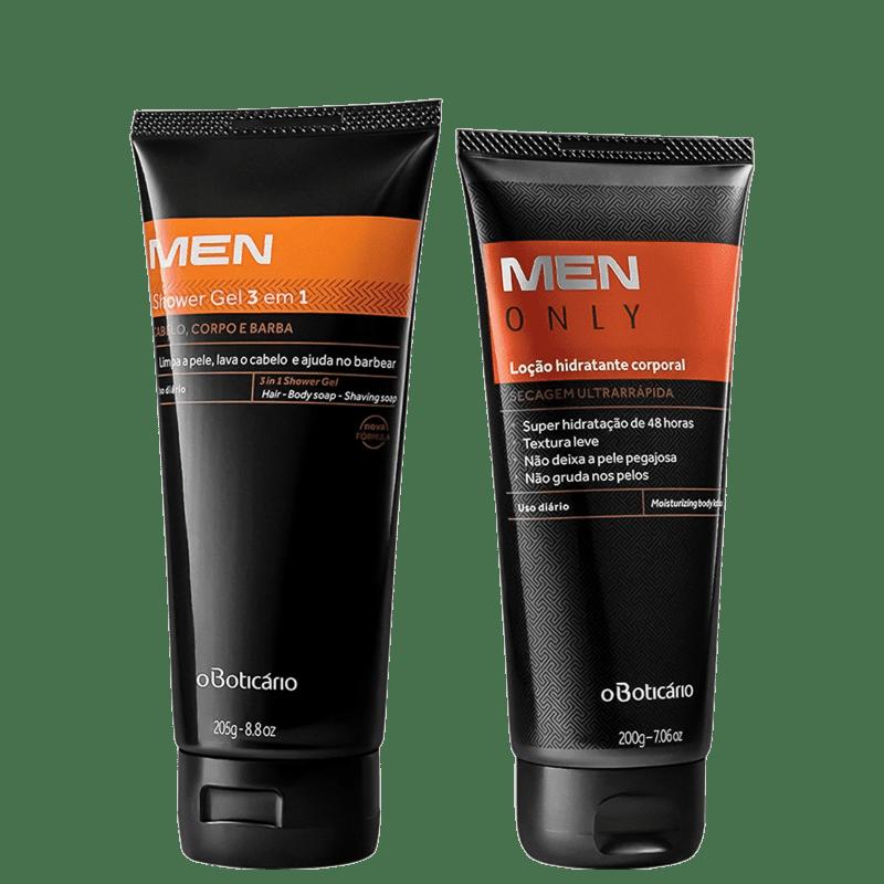 Combo Men: Shower Gel Corpo E Barba, 205G + Hidratante, 200G