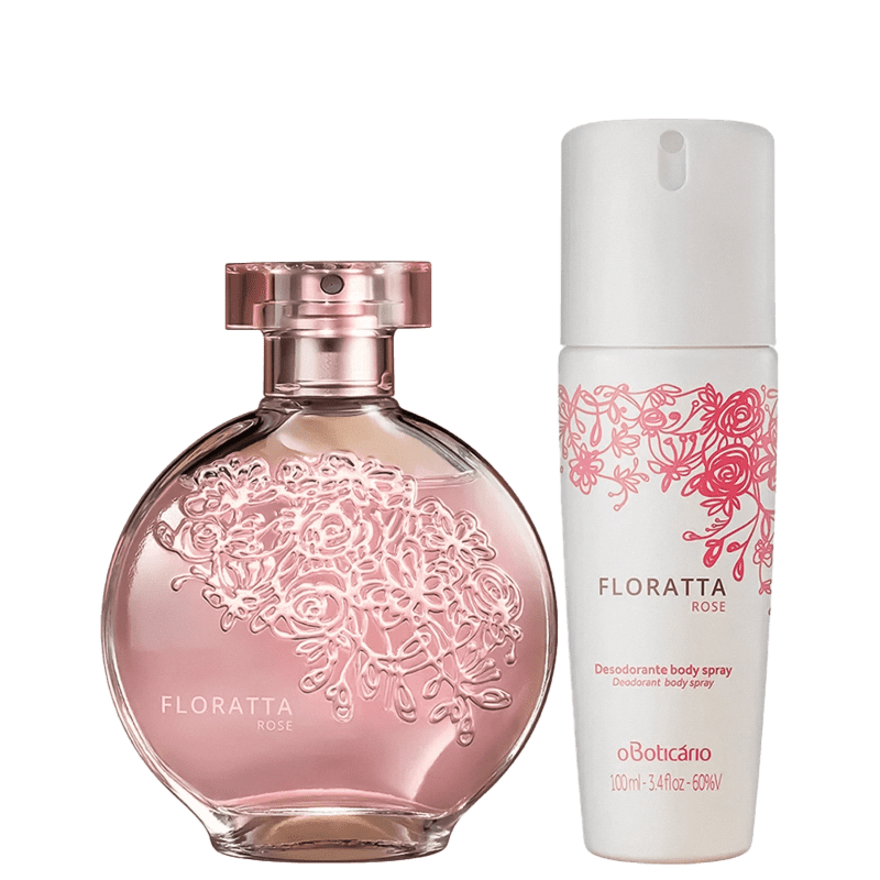 Combo Floratta Rose: Desodorante Colônia, 75Ml + Desodorante Antitranspirante Body Spray, 75G