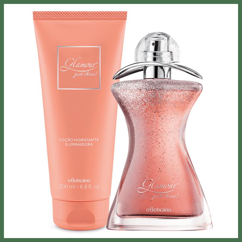 Combo Glamour Just Shine: Desodorante Colônia + Loção Hidratante Desodorante